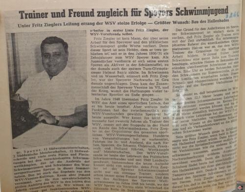 Fritz Ziegler Presse 1966