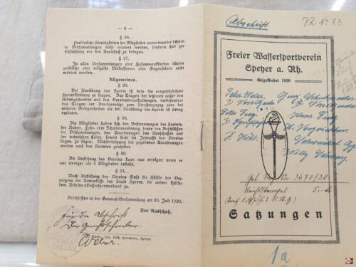 1920 erste Satzung