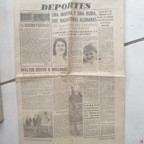 1957 Presseartikel Spanienrundreise